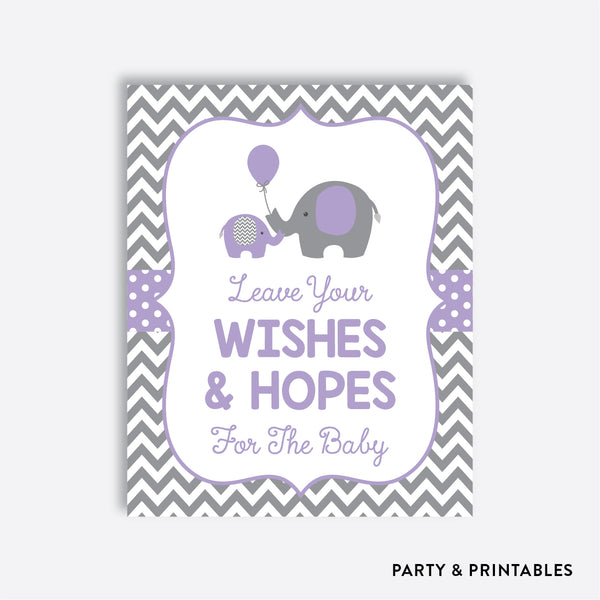 Elephant Wishes For The Baby / Non-Personalized / Instant Download (SBS.38)