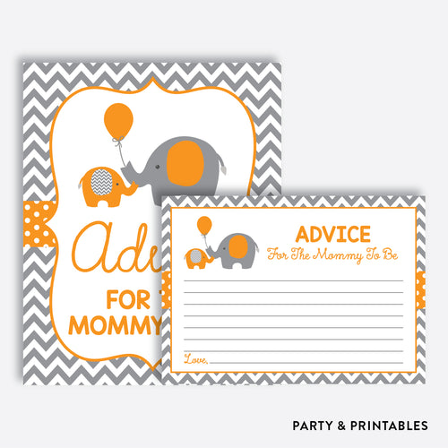 Elephant Advice For The Mommy To Be / Non-Personalized / Instant Download (SBS.39)