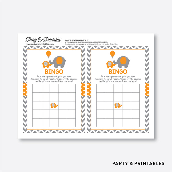 Elephant Bingo / Non-Personalized / Instant Download (SBS.39)