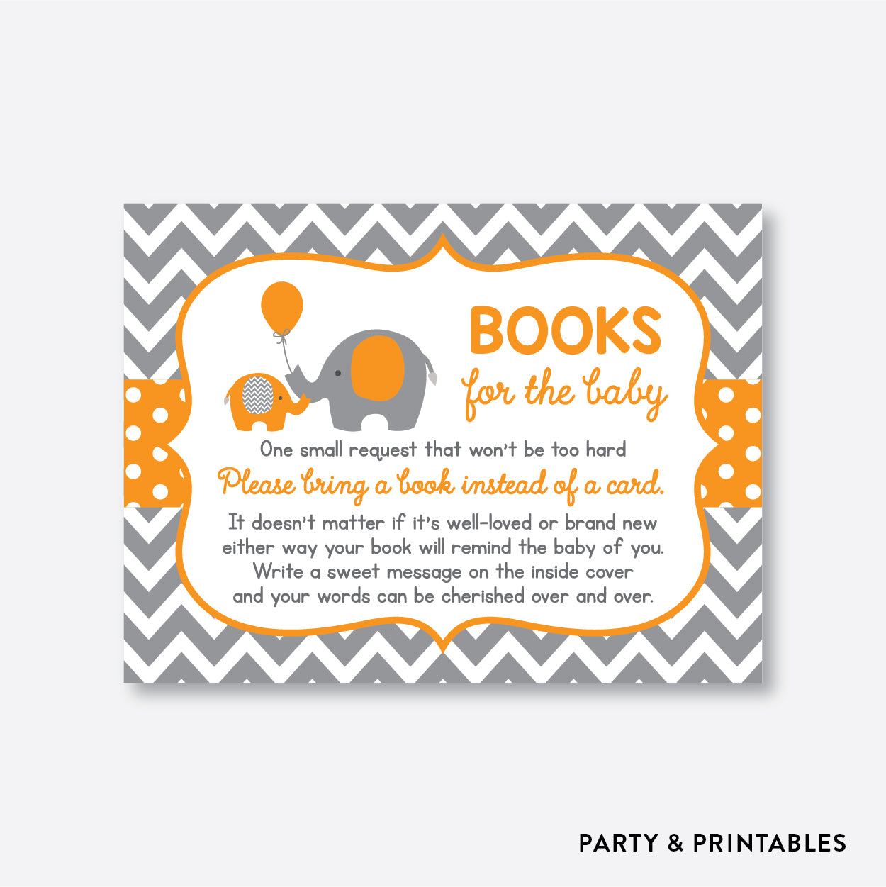 Elephant Books For The Baby / Non-Personalized / Instant Download (SBS.39)