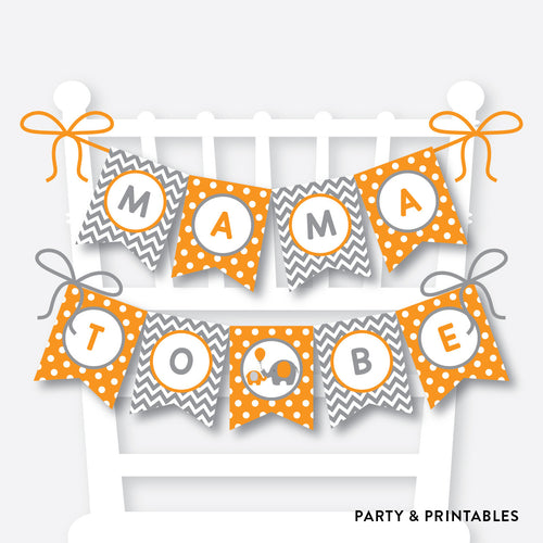 Elephant Chair Banner / Baby Shower Banner / Non-Personalized / Instant Download (SBS.39)