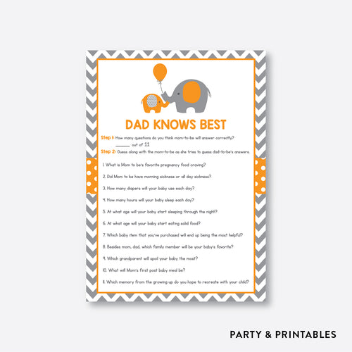 Elephant Dad Knows Best / Non-Personalized / Instant Download (SBS.39)
