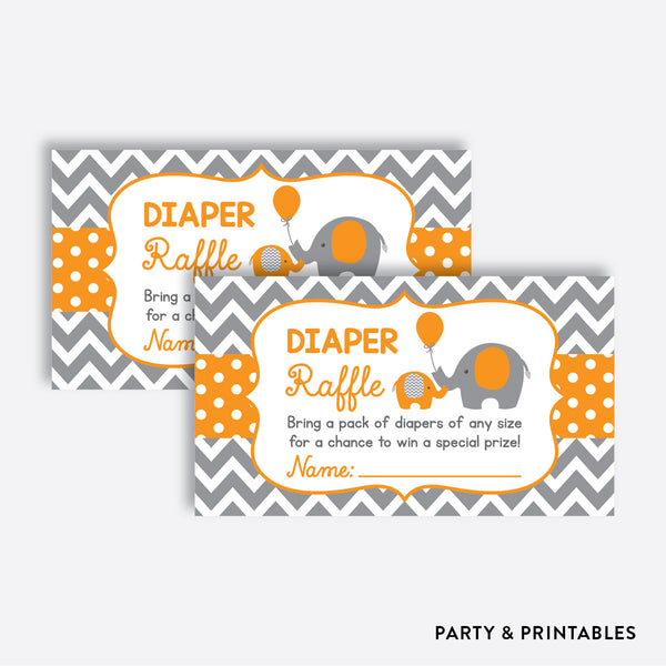 Elephant Diaper Raffle / Non-Personalized / Instant Download (SBS.39)