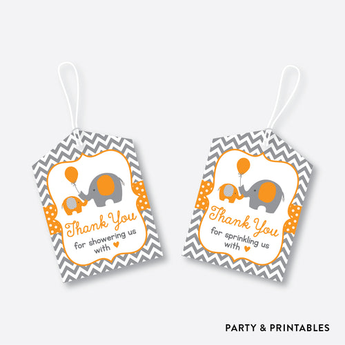 Elephant Favor Tags / Non-Personalized / Instant Download (SBS.39)