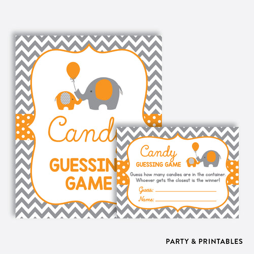 Elephant Guess How Many Candies / Non-Personalized / Instant Download (SBS.39)
