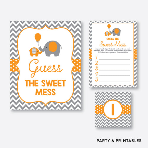 Elephant Guess The Sweet Mess / Non-Personalized / Instant Download (SBS.39)