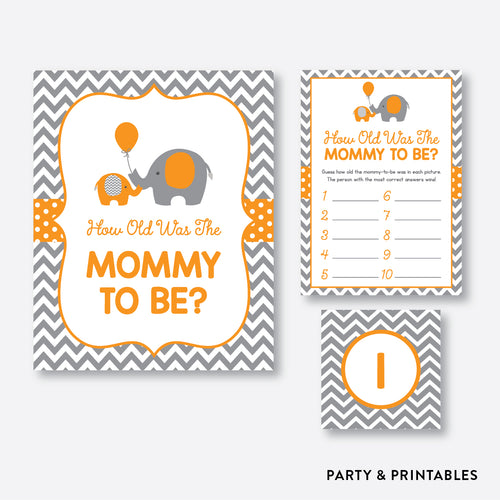 Elephant How Old Was Mommy To Be / Non-Personalized / Instant Download (SBS.39)