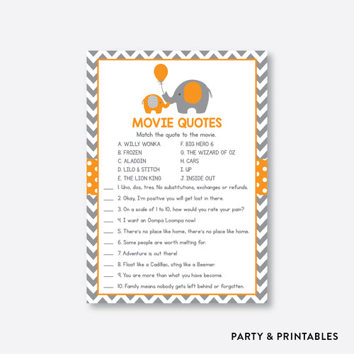 Elephant Movie Quotes / Non-Personalized / Instant Download (SBS.39)