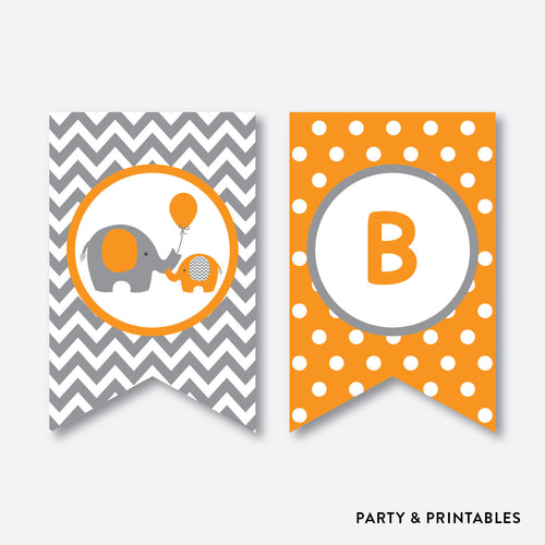 Elephant Party Banner / Baby Shower Banner / Non-Personalized / Instant Download (SBS.39)