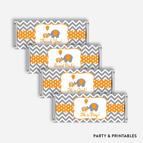 Elephant Standard Candy Bar Wrapper / Non-Personalized / Instant Download (SBS.39)