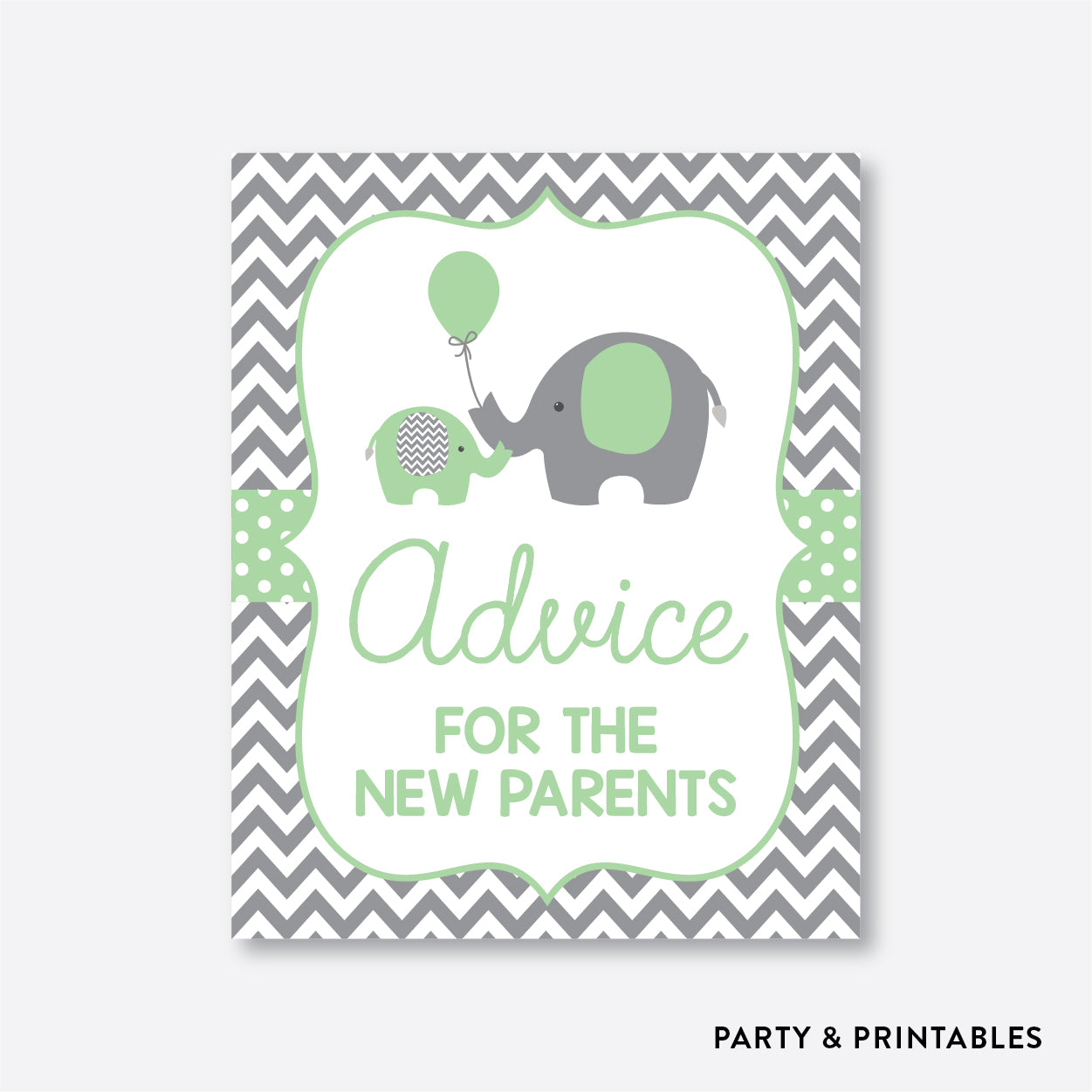 Elephant Advice For The Mommy To Be / Non-Personalized / Instant Download (SBS.40)