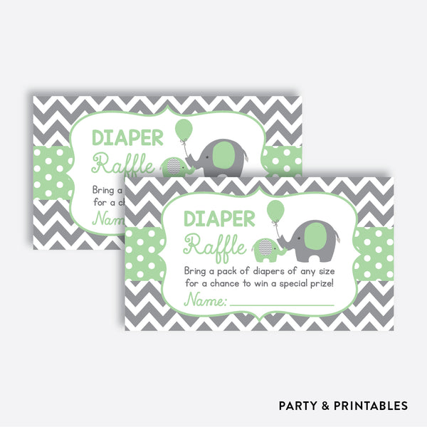 Elephant Diaper Raffle / Non-Personalized / Instant Download (SBS.40)