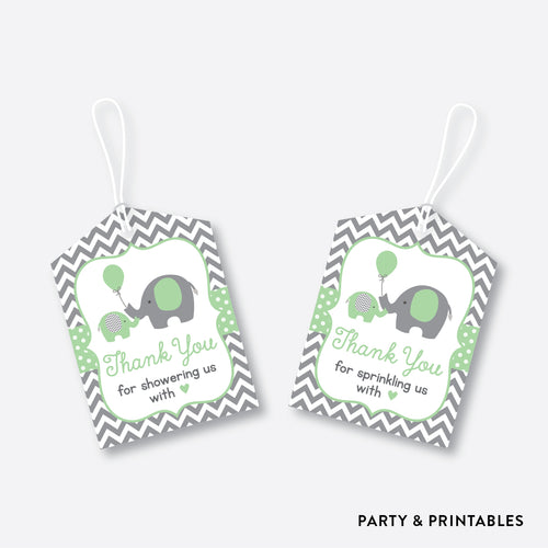 Elephant Favor Tags / Non-Personalized / Instant Download (SBS.40)