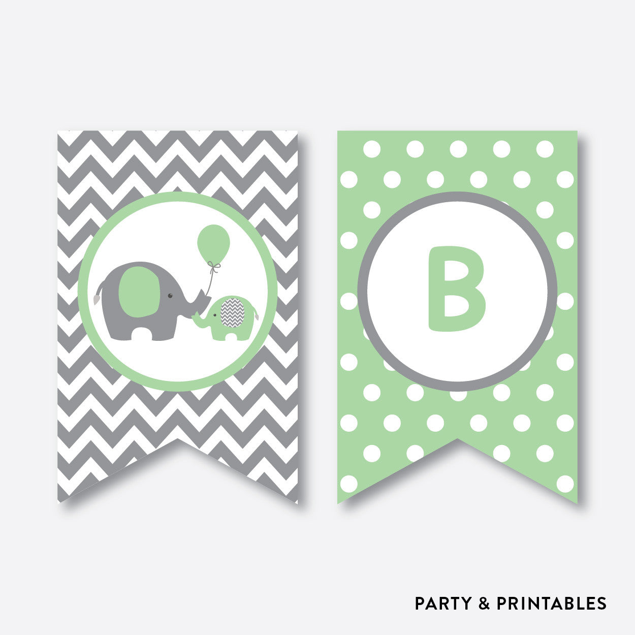 Elephant Party Banner / Baby Shower Banner / Non-Personalized / Instant Download (SBS.40), party printables - Party and Printables