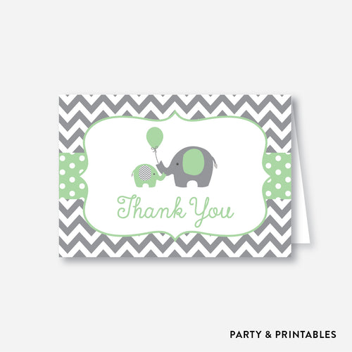 Elephant Baby Shower Thank You / Non-Personalized / Instant Download (SBS.40)