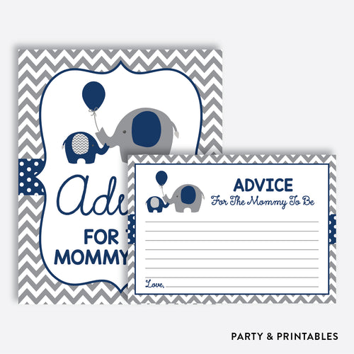 Elephant Advice For The Mommy To Be / Non-Personalized / Instant Download (SBS.41)