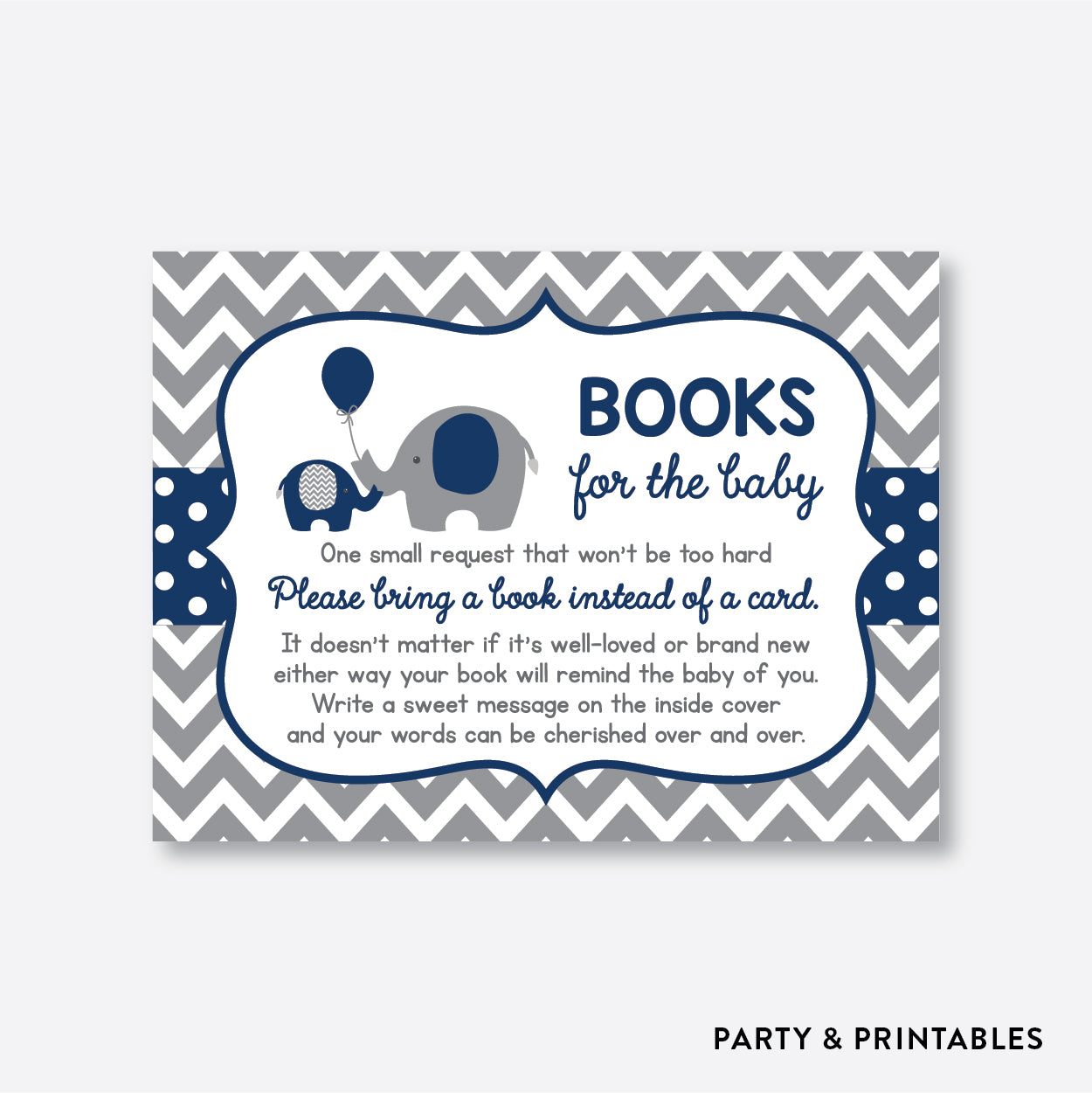 Elephant Books For The Baby / Non-Personalized / Instant Download (SBS.41)