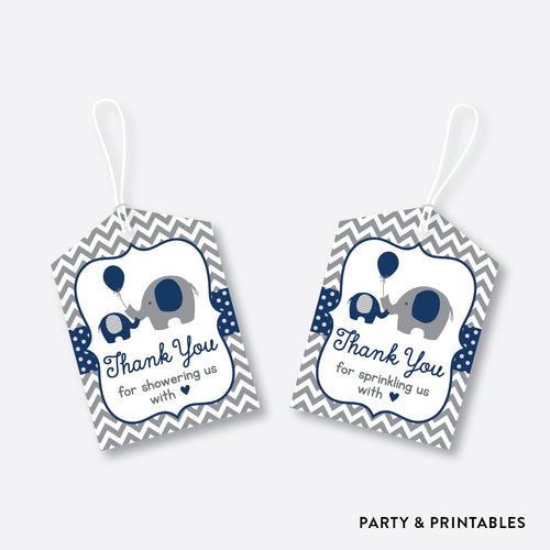 Elephant Favor Tags / Non-Personalized / Instant Download (SBS.41)