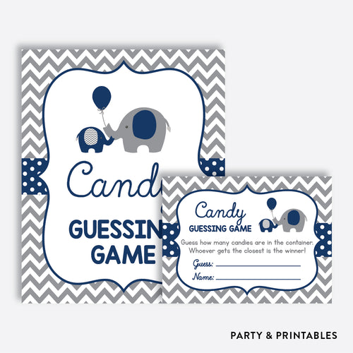 Elephant Guess How Many Candies / Non-Personalized / Instant Download (SBS.41)