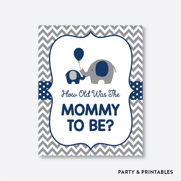 Elephant How Old Was Mommy To Be / Non-Personalized / Instant Download (SBS.41)