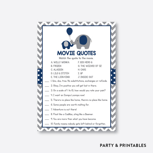 Elephant Movie Quotes / Non-Personalized / Instant Download (SBS.41)