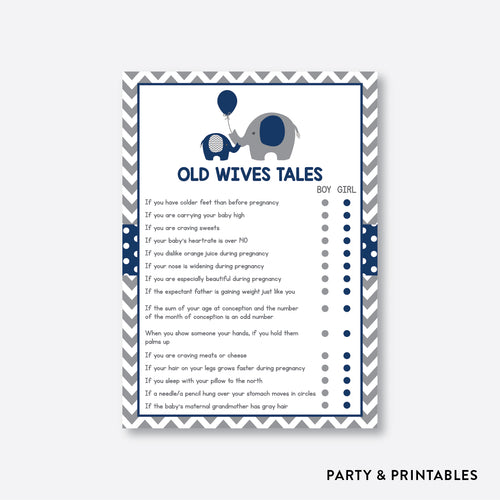 Elephant Old Wives Tales / Non-Personalized / Instant Download (SBS.41)