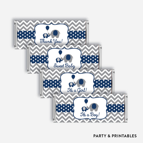 Elephant Standard Candy Bar Wrapper / Non-Personalized / Instant Download (SBS.41)