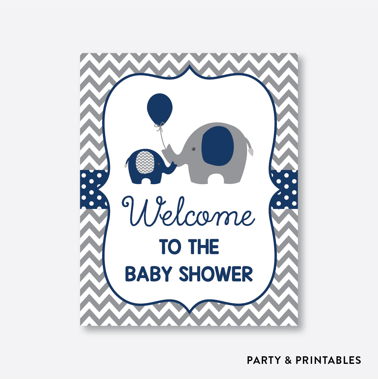 Elephant Welcome Sign / Non-Personalized / Instant Download (SBS.41)