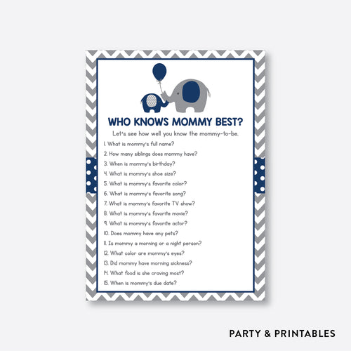 Elephant Who Knows Mommy Best / Non-Personalized / Instant Download (SBS.41)