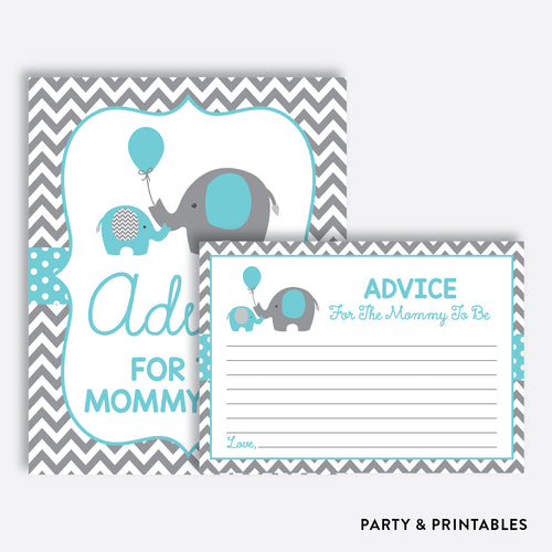Elephant Advice For The Mommy To Be / Non-Personalized / Instant Download (SBS.42)
