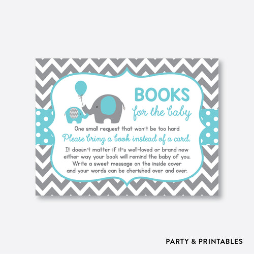 Aqua Elephant Books For The Baby / Non-Personalized / Instant Download (SBS.42)