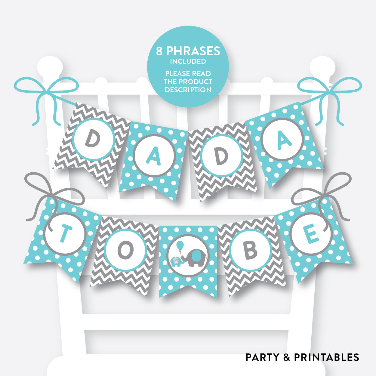 Elephant Chair Banner / Baby Shower Banner / Non-Personalized / Instant Download (SBS.42), party printables - Party and Printables