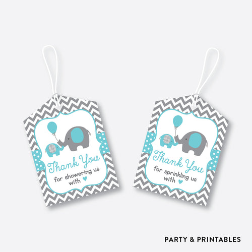 Elephant Favor Tags / Non-Personalized / Instant Download (SBS.42)