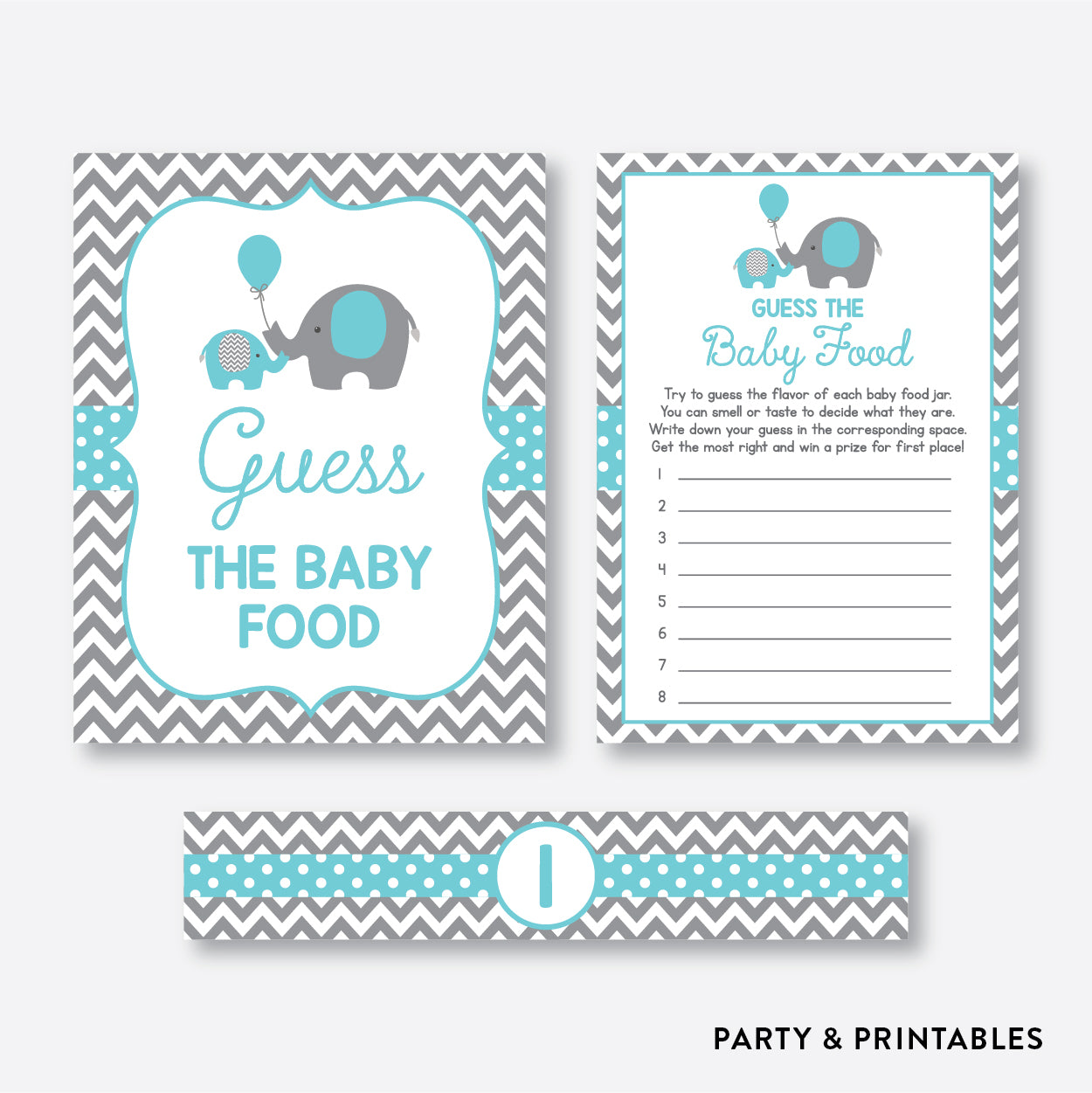 picture relating to Guess the Baby Food Game Printable identified as Elephant Bet The Boy or girl Food items / Non-Custom made / Prompt Down load (SBS.42)