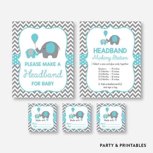 Elephant Headband For Baby / Non-Personalized / Instant Download (SBS.42)