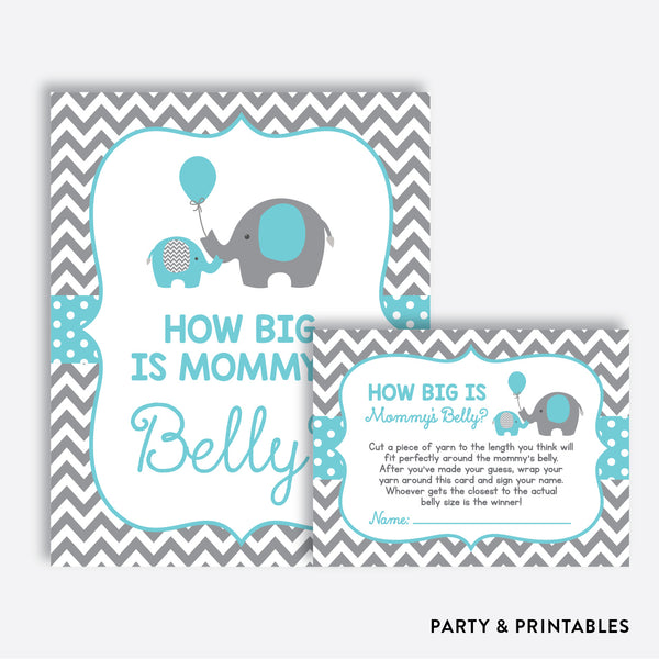 Elephant How Big is Mommy's Belly / Non-Personalized / Instant Download (SBS.42)