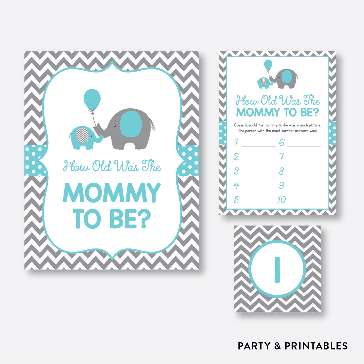 Elephant How Old Was Mommy To Be / Non-Personalized / Instant Download (SBS.42)