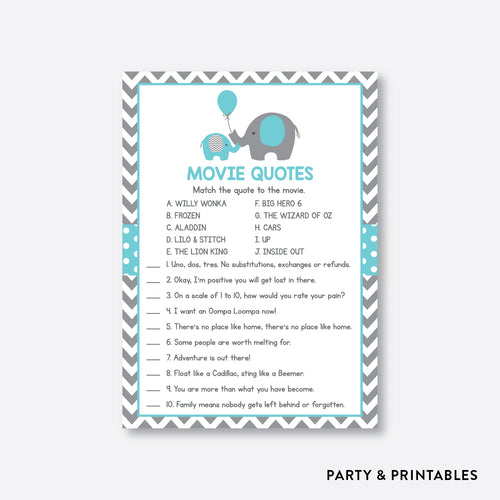 Elephant Movie Quotes / Non-Personalized / Instant Download (SBS.42)
