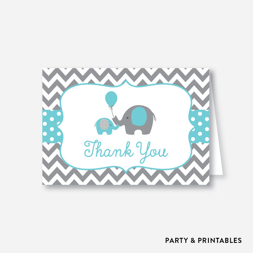 Elephant Baby Shower Thank You / Non-Personalized / Instant Download (SBS.42)