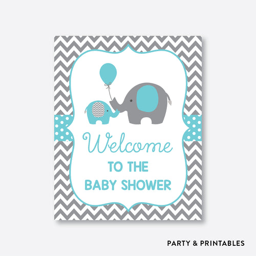 Elephant Welcome Sign / Non-Personalized / Instant Download (SBS.42)