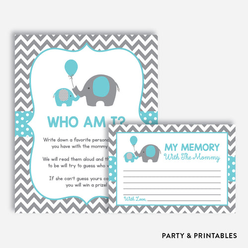 Elephant Who Am I / Non-Personalized / Instant Download (SBS.42)
