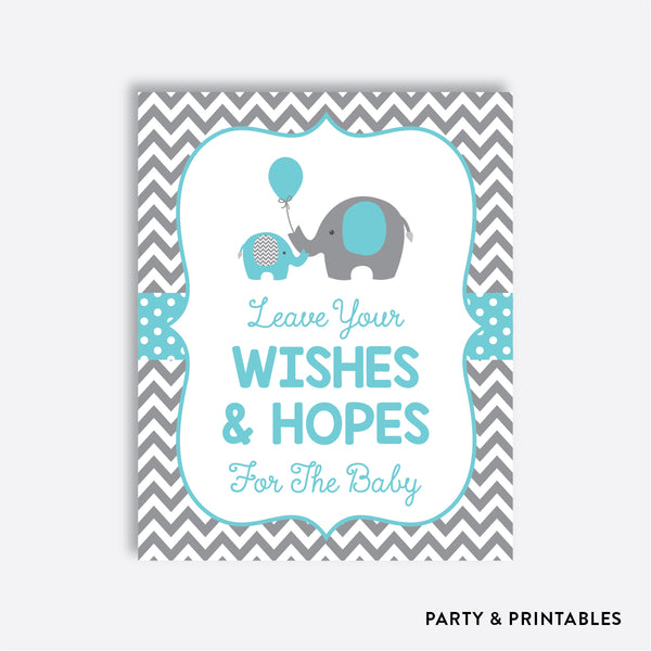 Elephant Wishes For The Baby / Non-Personalized / Instant Download (SBS.42)