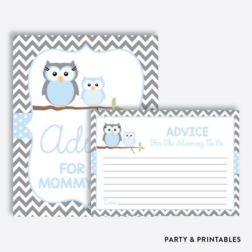 Owl Advice For The Mommy To Be / Non-Personalized / Instant Download (SBS.43)