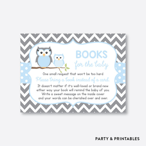Owl Books For The Baby / Non-Personalized / Instant Download (SBS.43)