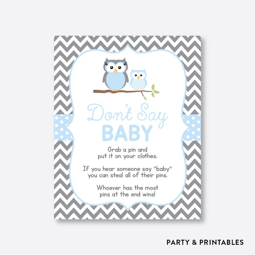 Owl Don't Say Baby / Non-Personalized / Instant Download (SBS.43)