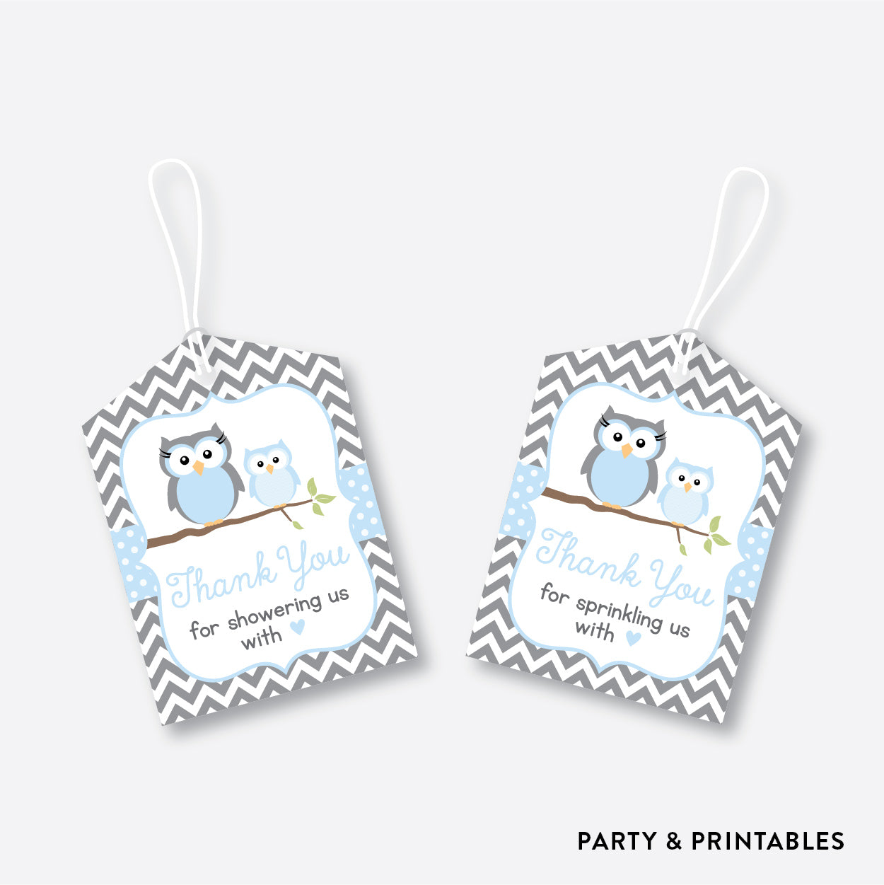 Owl Favor Tags / Non-Personalized / Instant Download (SBS.43)