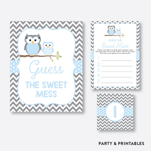 Owl Guess The Sweet Mess / Non-Personalized / Instant Download (SBS.43)