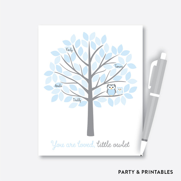Owl Guestbook Alternative / Non-Personalized / Instant Download (SBS.43)