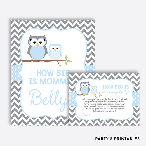 Owl How Big is Mommy's Belly / Non-Personalized / Instant Download (SBS.43)