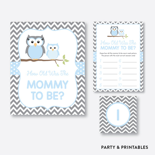 Owl How Old Was Mommy To Be / Non-Personalized / Instant Download (SBS.43)